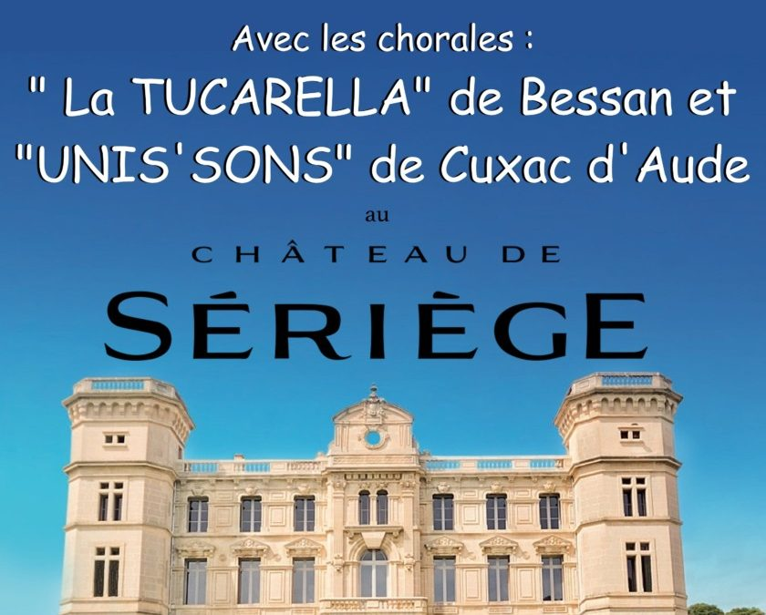 Concert Vocal à Sériège le dimanche 8 avril à 17h.