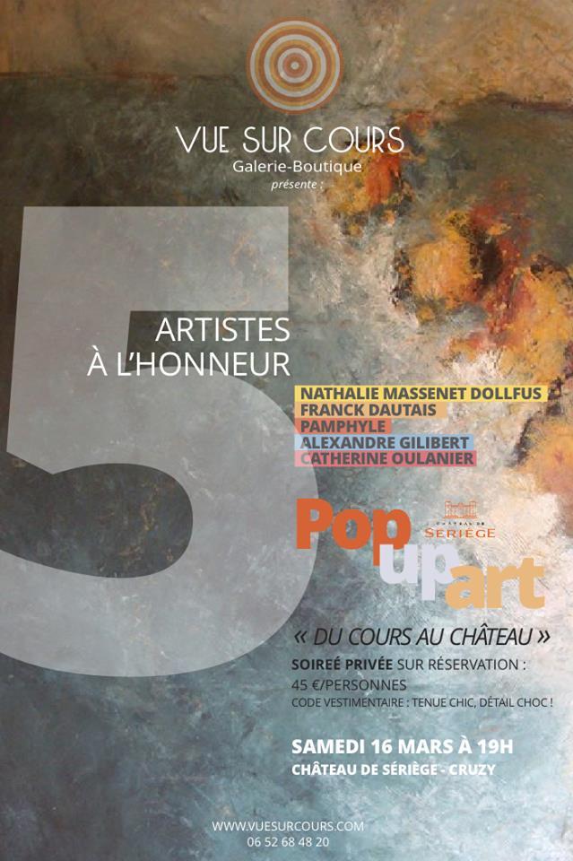 Soirée Pop Up Art le Samedi 16 mars 2019